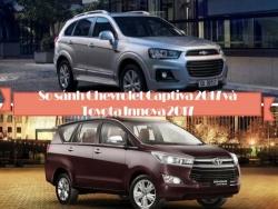 So sánh Chevrolet Captiva 2017 và Toyota Innova 2017