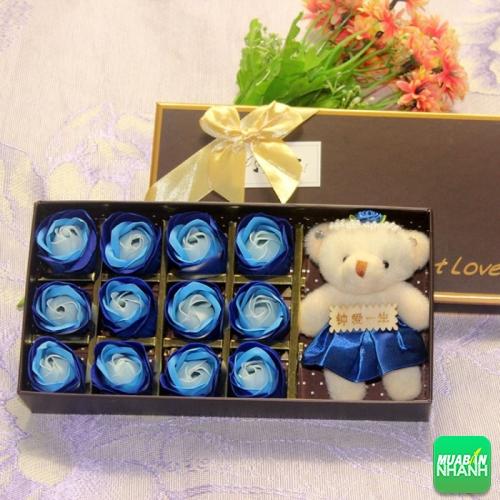 Quà tặng 20 tháng 10 cho bạn gái - gấu bông đáng yêu và 12 bông hoa hồng sáp lãng mạn, 162, Minh Thiện, Giá bao nhiêu, 28/09/2016 04:34:27